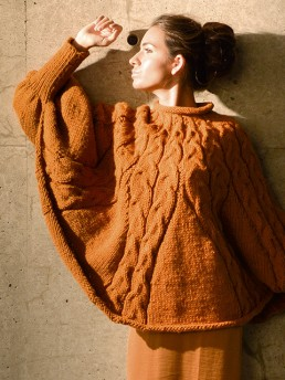Cable Cape by Monika Ramizi Handmade Knitwear