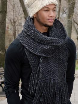 Unisex Long Scarf by Monika Ramizi Handmade Knitwear