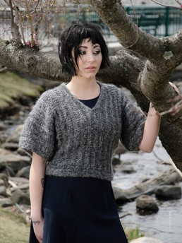Short Sleeve Sweater by Monika Ramizi Handmade Knitwear