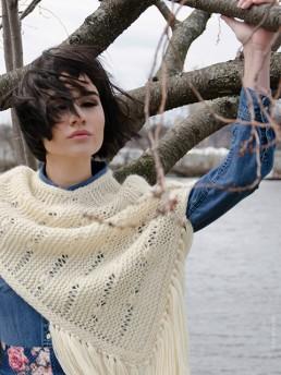 Summer Poncho Cotton by Monika Ramizi Handmade Knitwear