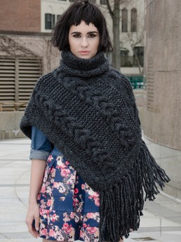 Turtleneck Poncho by Monika Ramizi Handmade Knitwear